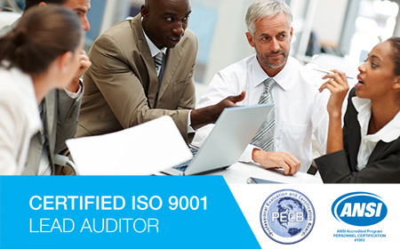 ISO 9001 Quality Management Systems (QMS) Lead Auditor PECB ANSI Certification Course